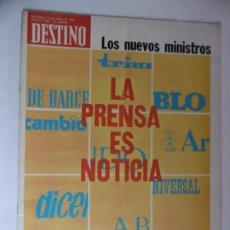 Coleccionismo de Revista Destino: REVISTA DESTINO - Nº 4954 - 1975 - LA PRENSA ES NOTICIA - LOS NUEVOS MINISTROS. Lote 178650388