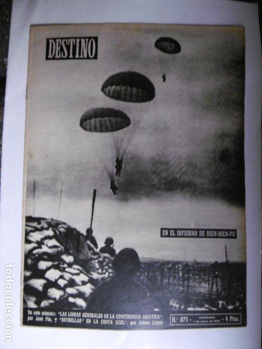 Coleccionismo de Revista Destino: REVISTA DESTINO - 1954 - 25 REVISTAS DIFERENTES DEL AÑO 1954 - Foto 3 - 178786562