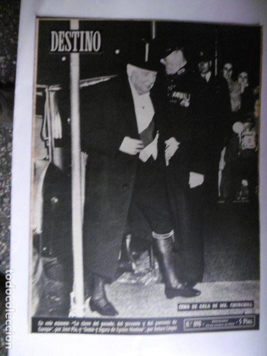 Coleccionismo de Revista Destino: REVISTA DESTINO - 1954 - 25 REVISTAS DIFERENTES DEL AÑO 1954 - Foto 4 - 178786562