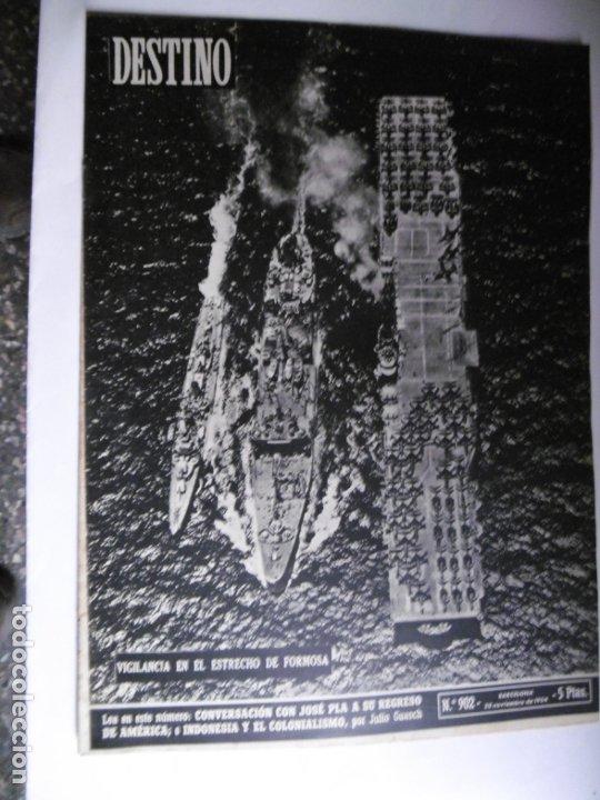 Coleccionismo de Revista Destino: REVISTA DESTINO - 1954 - 25 REVISTAS DIFERENTES DEL AÑO 1954 - Foto 5 - 178786562