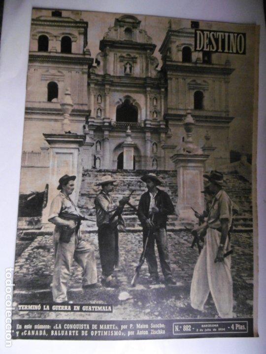 Coleccionismo de Revista Destino: REVISTA DESTINO - 1954 - 25 REVISTAS DIFERENTES DEL AÑO 1954 - Foto 6 - 178786562