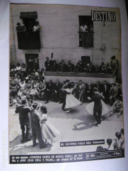 Coleccionismo de Revista Destino: REVISTA DESTINO - 1954 - 25 REVISTAS DIFERENTES DEL AÑO 1954 - Foto 8 - 178786562