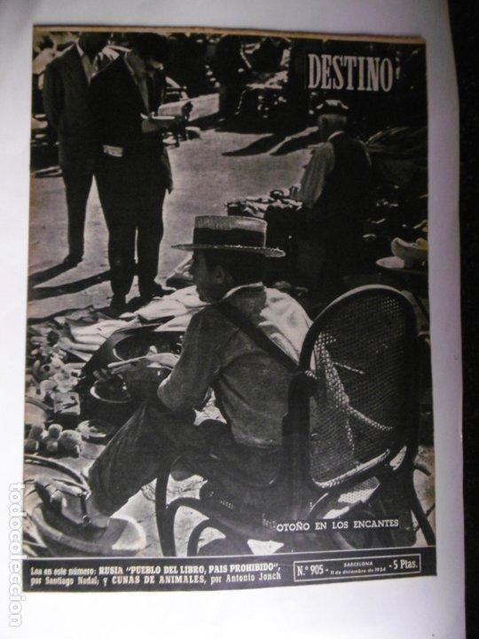 Coleccionismo de Revista Destino: REVISTA DESTINO - 1954 - 25 REVISTAS DIFERENTES DEL AÑO 1954 - Foto 9 - 178786562