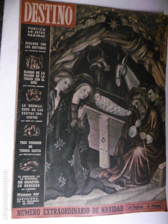 REVISTA DESTINO - 1954 - 25 REVISTAS DIFERENTES DEL AÑO 1954 (Coleccionismo - Revistas y Periódicos Modernos (a partir de 1.940) - Revista Destino)