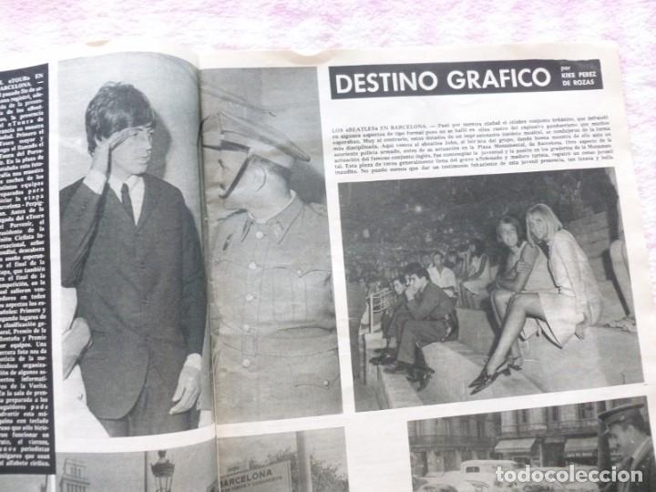 Coleccionismo de Revista Destino: The Beatles BARCELONA Revista Destino Julio de 1965 Excelente - Foto 4 - 178802041
