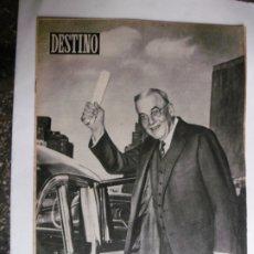 Coleccionismo de Revista Destino: REVISTA DESTINO - Nº 895 - 1954 - FOSTER DULLES - LA ULTIMA OPORTUNIDAD DE EUROPA. Lote 178823443