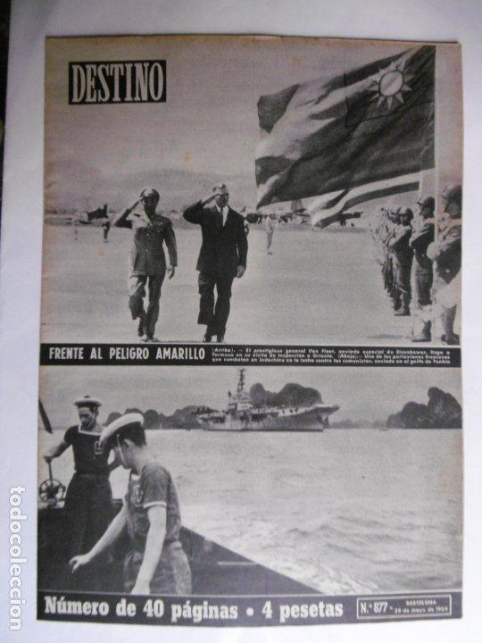 REVISTA DESTINO - Nº 877 - 1954 - FRENTE AL PELIGRO AMARILLO (Coleccionismo - Revistas y Periódicos Modernos (a partir de 1.940) - Revista Destino)