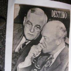 Coleccionismo de Revista Destino: REVISTA DESTINO - Nº 874 - 1954 - EISENHOWER Y DULLES - DS HOMBRES PREOCUPADOS. Lote 178823891