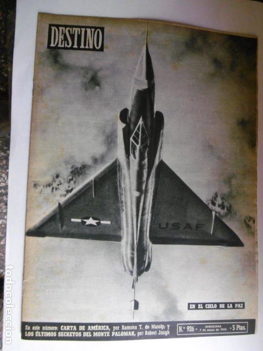 Coleccionismo de Revista Destino: REVISTA DESTINO - 1955 - 11 REVISTAS DESTINO DIFERENTES - Foto 3 - 179009620
