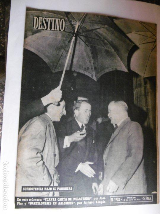 Coleccionismo de Revista Destino: REVISTA DESTINO - 1955 - 11 REVISTAS DESTINO DIFERENTES - Foto 4 - 179009620