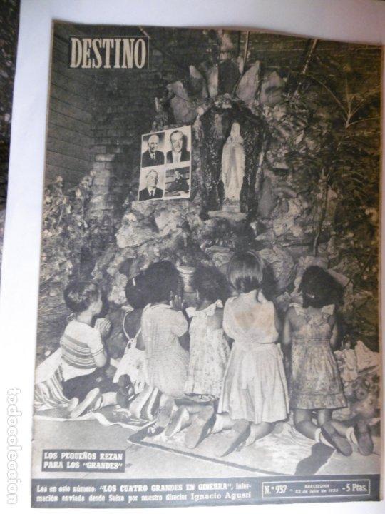 Coleccionismo de Revista Destino: REVISTA DESTINO - 1955 - 11 REVISTAS DESTINO DIFERENTES - Foto 6 - 179009620