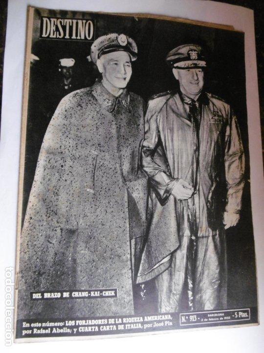 REVISTA DESTINO - 1955 - 11 REVISTAS DESTINO DIFERENTES (Coleccionismo - Revistas y Periódicos Modernos (a partir de 1.940) - Revista Destino)