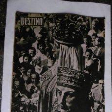 Colecionismo da Revista Destino: REVISTA DESTINO - Nº 1103 - 1958 - UNA BELLA PAREJA - FRANCIA-CARLOS(DE GAULLE) XI POR S. NADAL. Lote 179028816