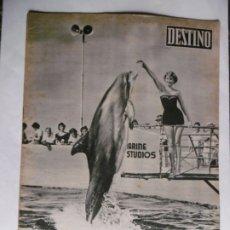 Collectionnisme de Magazine Destino: REVISTA DESTINO - Nº 1101 - 1958 - NUESTRO AMIGO EL DELFIN. Lote 179028992
