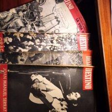 Coleccionismo de Revista Destino: LOTE 4 REVISTAS DESTINO, BARCELONA, CATALUÑA, AÑOS 60, JOAN MANUEL SERRAT. Lote 234714405