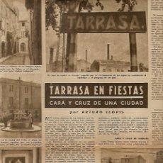 Coleccionismo de Revista Destino: 1949 TERRASSA FIESTAS CARTEL FCB BARÇA SAN PABLO DEL CAMPO REUS PREMIO J.BOSCAN ATLETISMO LERROUX. Lote 10861451
