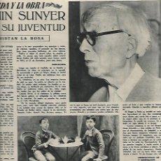 Coleccionismo de Revista Destino: AÑO 1950 SANT CARLES DE LA RAPITA ARROZ DELTA EBRE BEETHOVEN PINTURA SUNYER TOMAS BARRIS PROFIDEN. Lote 10864534