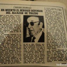 Collectionnisme de Magazine Destino: REVISTA DESTINO Nº 976 ABRIL 1956 DIA DEL LIBRO,MUERE GENERAL MOSCARDO,CAMILO J. CELA. ENTRE OTROS. Lote 183305638