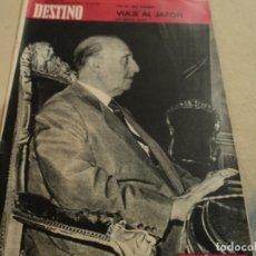 Coleccionismo de Revista Destino: REVISTA DESTINO Nº 1406 ABRIL 1964 XXV AÑOS DE PAZ, RAIMON, TOKIO. ENTRE OTROS. Lote 183312801
