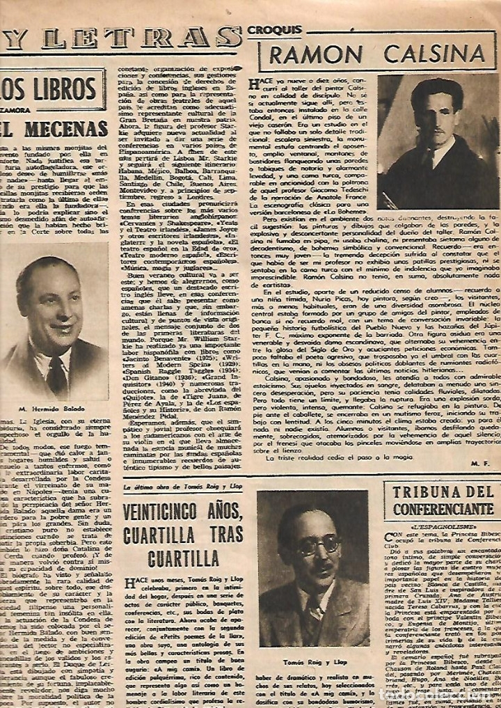Coleccionismo de Revista Destino: AÑO 1950 OLIVEIRA SALAZAR ESCUELA DE COMERCIO MERCAT BORN PINTURA MIR VILANOVA GELTRU RAMON CALSINA - Foto 5 - 10873130