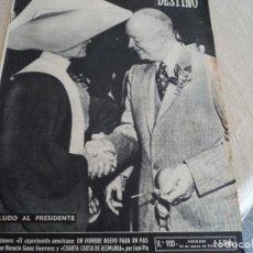 Coleccionismo de Revista Destino: DESTINO Nº 920 MARZO 55,EISENHOWER, MOLINOS DE MALLORCA, VENECIA NEVADA...ETC. Lote 183401752