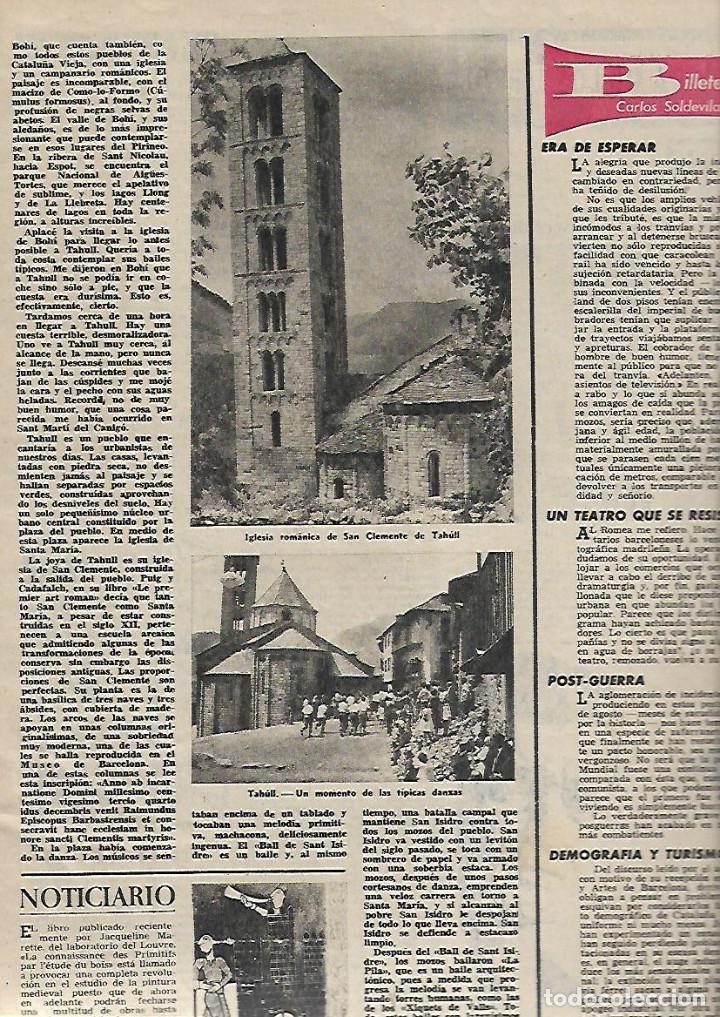 1961 ITALIA FIGUERAS A LIBANO EN 600 ARGENTONA TAHULL ROMANICO SABADELL JUAN MONTLLOR PUJALT DUWARD (Coleccionismo - Revistas y Periódicos Modernos (a partir de 1.940) - Revista Destino)