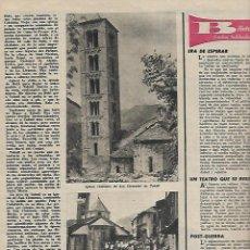 Coleccionismo de Revista Destino: 1961 ITALIA FIGUERAS A LIBANO EN 600 ARGENTONA TAHULL ROMANICO SABADELL JUAN MONTLLOR PUJALT DUWARD. Lote 10896677