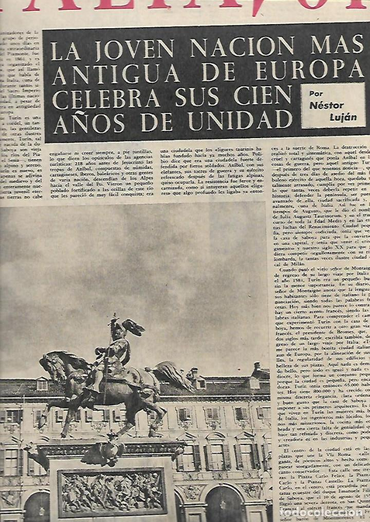 Coleccionismo de Revista Destino: 1961 ITALIA FIGUERAS A LIBANO EN 600 ARGENTONA TAHULL ROMANICO SABADELL JUAN MONTLLOR PUJALT DUWARD - Foto 2 - 10896677