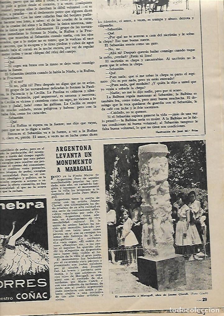 Coleccionismo de Revista Destino: 1961 ITALIA FIGUERAS A LIBANO EN 600 ARGENTONA TAHULL ROMANICO SABADELL JUAN MONTLLOR PUJALT DUWARD - Foto 4 - 10896677