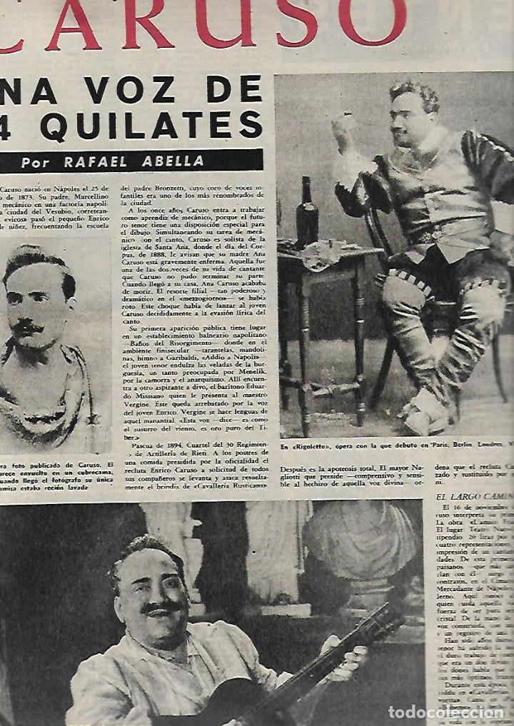 AÑO 1961 OPERA CARUSO COMARRUGA FESTIVAL INTERNACIONAL CINE SAN SEBASTIAN MASNOU KODAK NESCAFE (Coleccionismo - Revistas y Periódicos Modernos (a partir de 1.940) - Revista Destino)
