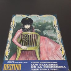 Collectionnisme de Magazine Destino: ANGEL CARMONA, MANUEL DE PEDROLO, MR EDDIE WOODS, ERNESTO HALFFTER. 1967.. Lote 184090985