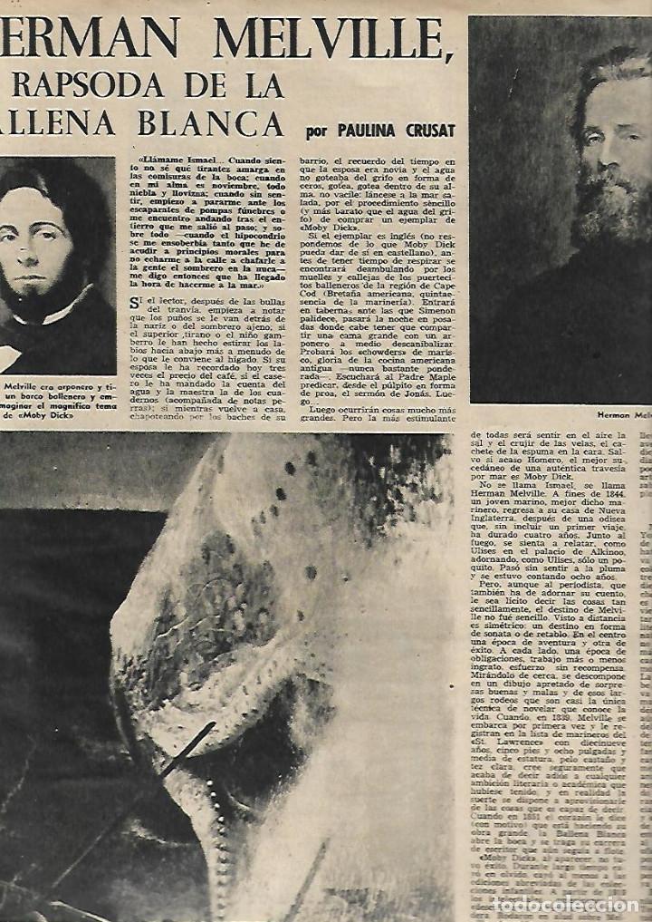 Coleccionismo de Revista Destino: 1958 CORO CATEDRAL BCNA TOLEDO SEVILLA MALAGA ARGENTONA CORPUS FLAMENCO LA CHUNGA HERMAN MELVILLE - Foto 3 - 11593542