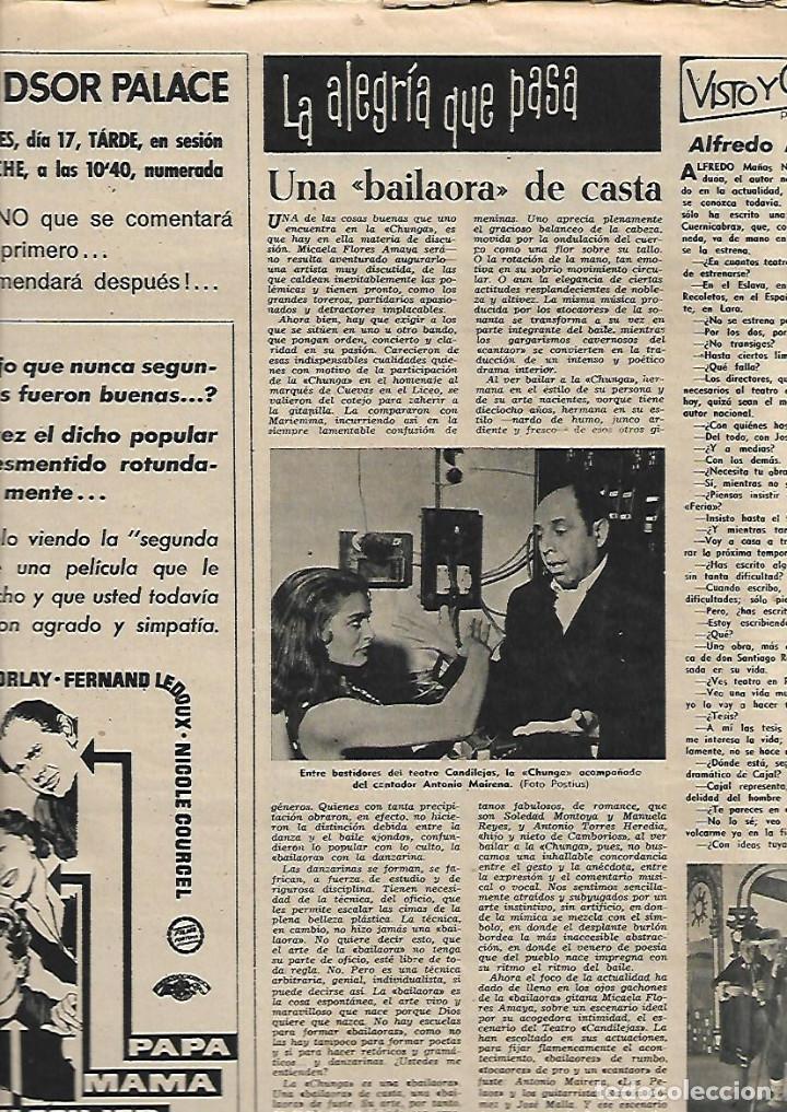 Coleccionismo de Revista Destino: 1958 CORO CATEDRAL BCNA TOLEDO SEVILLA MALAGA ARGENTONA CORPUS FLAMENCO LA CHUNGA HERMAN MELVILLE - Foto 4 - 11593542