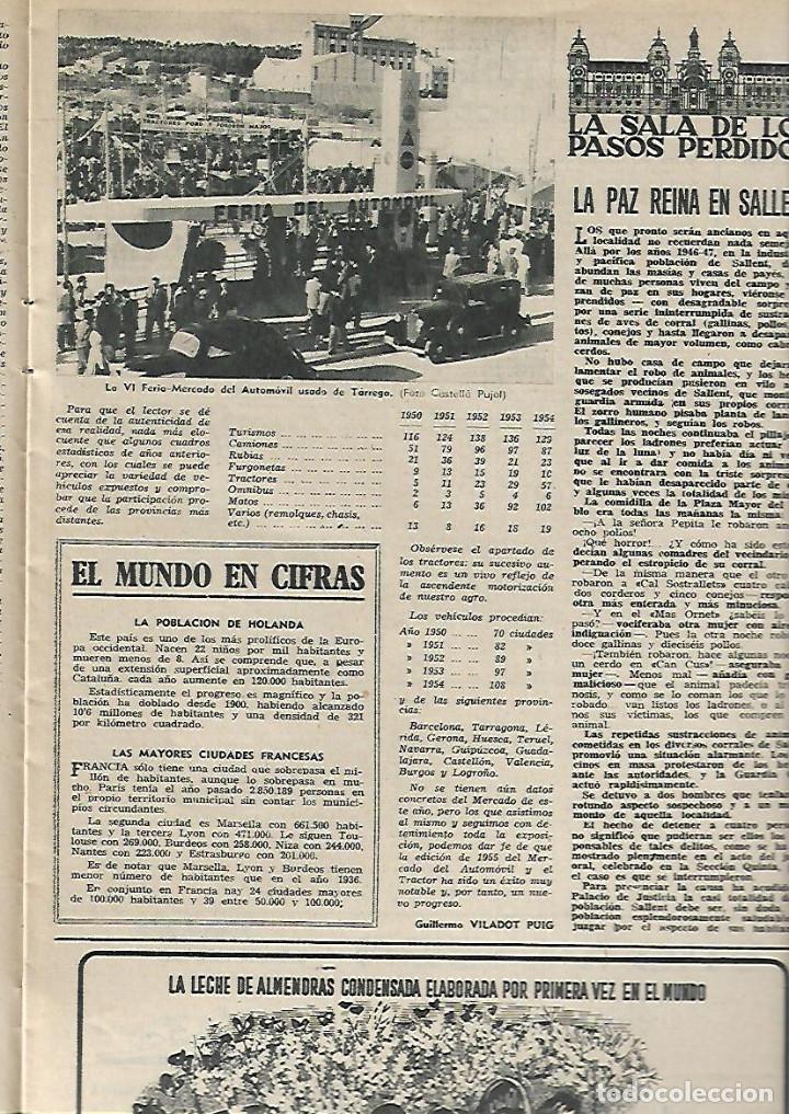 Coleccionismo de Revista Destino: AÑO 1955 ANTONIO GAUDI ESCULTOR VIRGEN DEL PUERTO EXTREMADURA TARREGA BALAGUER CANARIAS TAPIES - Foto 3 - 11609198