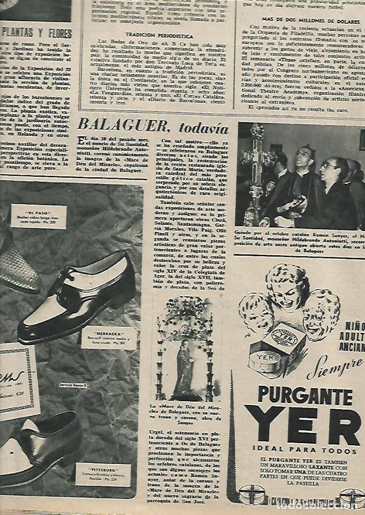Coleccionismo de Revista Destino: AÑO 1955 ANTONIO GAUDI ESCULTOR VIRGEN DEL PUERTO EXTREMADURA TARREGA BALAGUER CANARIAS TAPIES - Foto 4 - 11609198