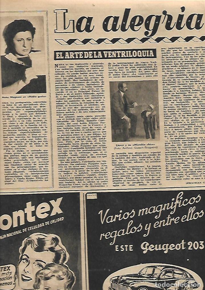Coleccionismo de Revista Destino: AÑO 1953 COMUNICACIONES EN EL MOTNEGRE EL CIRCO VICENTE ALEIXANDRE DOCE VENTRILOQUIA LLOVET C PIQUER - Foto 2 - 11621406