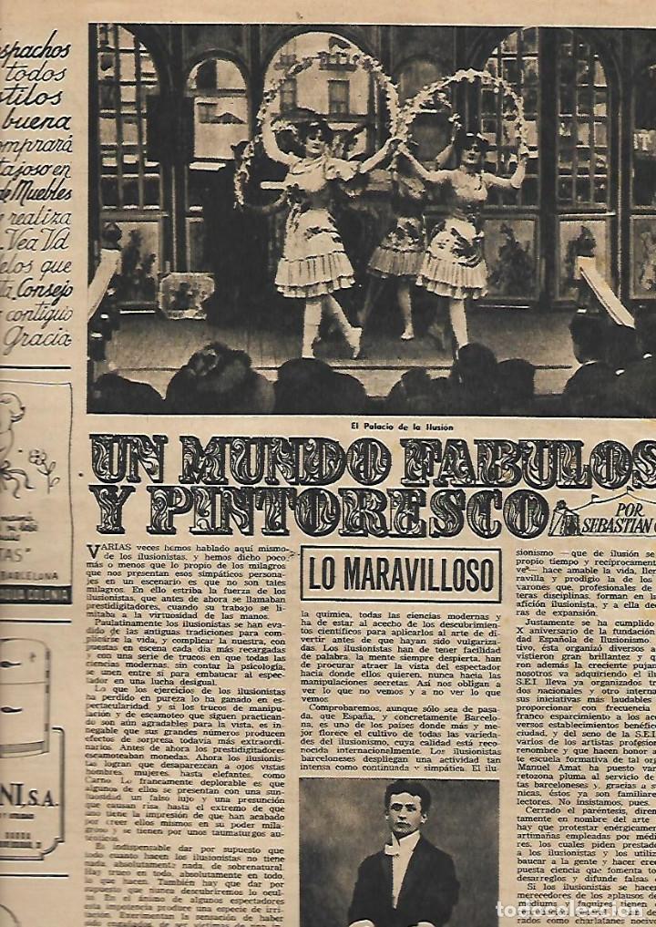 Coleccionismo de Revista Destino: AÑO 1953 COMUNICACIONES EN EL MOTNEGRE EL CIRCO VICENTE ALEIXANDRE DOCE VENTRILOQUIA LLOVET C PIQUER - Foto 4 - 11621406