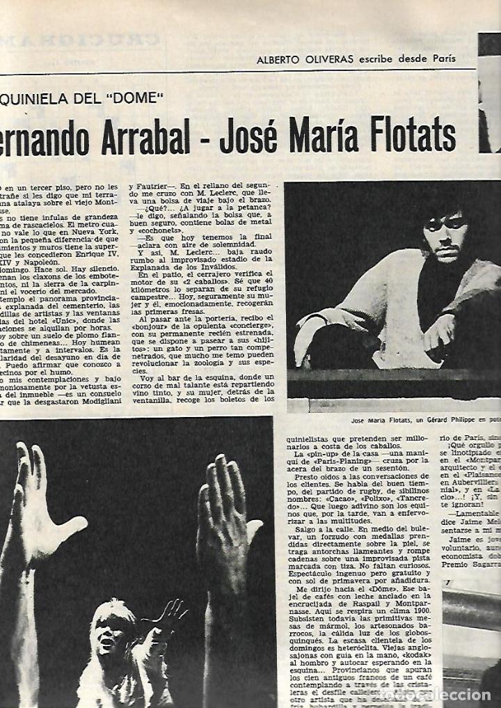 Coleccionismo de Revista Destino: AÑO 1967 CALELLA FRESAS LA GOMERA ARRABAL FLOTATS TEATRO JOAN TEIXIDOR LA SARDANA Y LA COBLA BEATLES - Foto 6 - 11684209