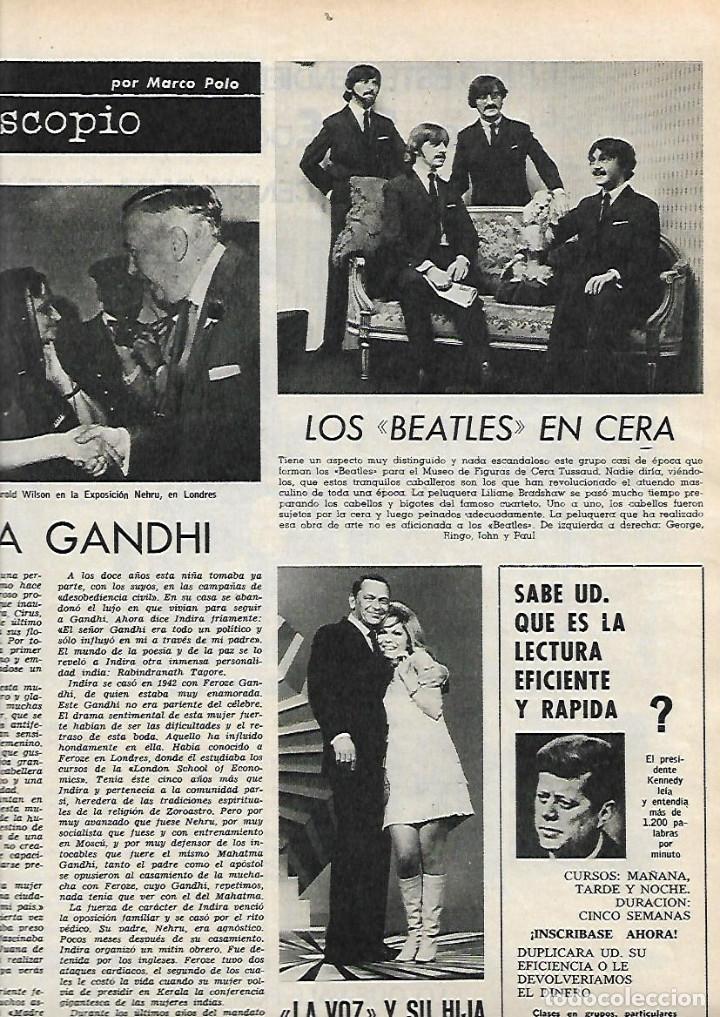 Coleccionismo de Revista Destino: AÑO 1967 CALELLA FRESAS LA GOMERA ARRABAL FLOTATS TEATRO JOAN TEIXIDOR LA SARDANA Y LA COBLA BEATLES - Foto 3 - 11684209