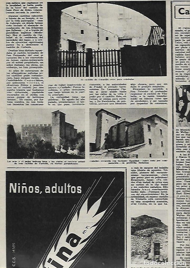 Coleccionismo de Revista Destino: AÑO 1956 CASTELLON CASTILLOS CATALANES CORPUS ORIENT MALLORCA FERIA BARCELONA CARLOS CRUZ DIEZ - Foto 4 - 11722165