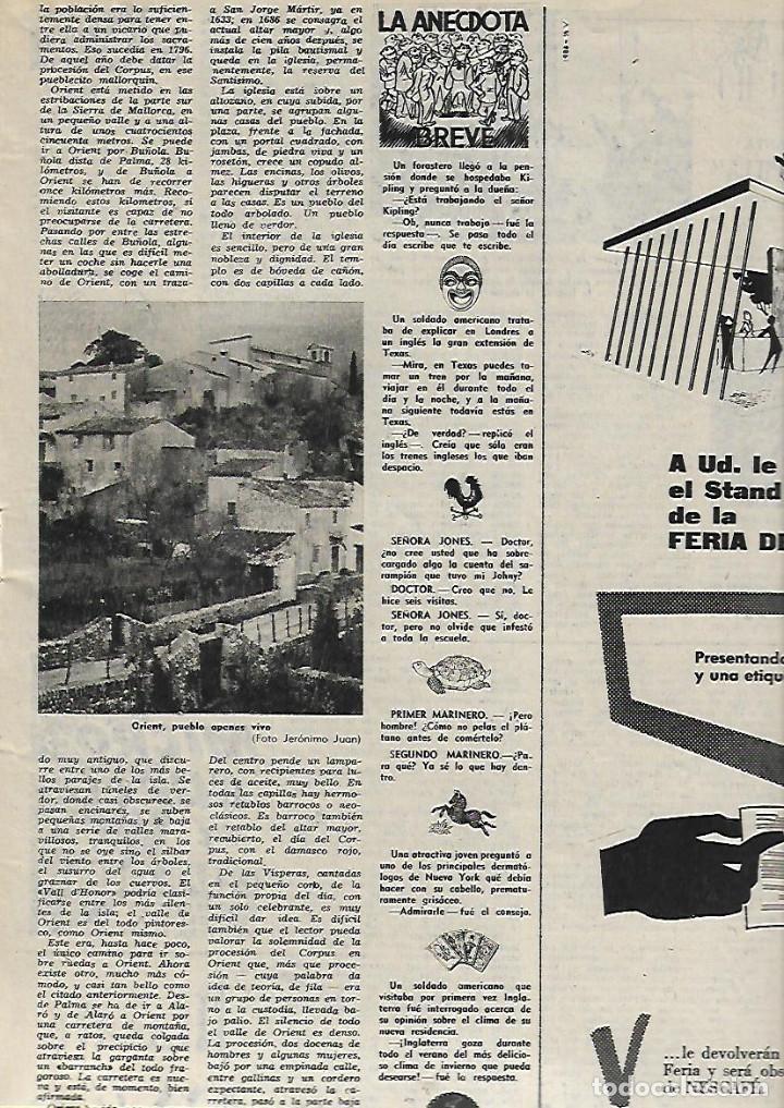 Coleccionismo de Revista Destino: AÑO 1956 CASTELLON CASTILLOS CATALANES CORPUS ORIENT MALLORCA FERIA BARCELONA CARLOS CRUZ DIEZ - Foto 5 - 11722165