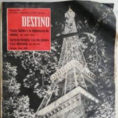 Coleccionismo de Revista Destino: DESTINO 30 MAYO 1959 - CELA-DELIBES-FOSTER DULLES-GRAVES--KUBALA-PLA-. Lote 190040748