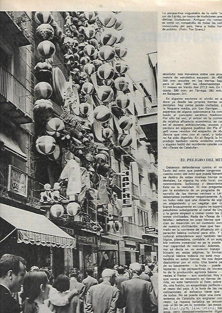 Coleccionismo de Revista Destino: AÑO 1970 MERCAT EL BORN LLEIDA FERRAN SOLDEVILA JACINT ESTEVA CINE LEJOS DE LOS ARBOLES ETERNA MATIC - Foto 3 - 11728348