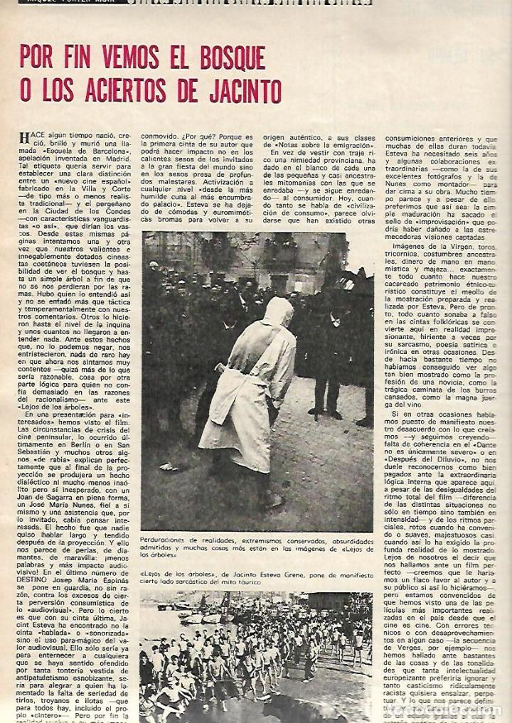 AÑO 1970 MERCAT EL BORN LLEIDA FERRAN SOLDEVILA JACINT ESTEVA CINE LEJOS DE LOS ARBOLES ETERNA MATIC (Coleccionismo - Revistas y Periódicos Modernos (a partir de 1.940) - Revista Destino)