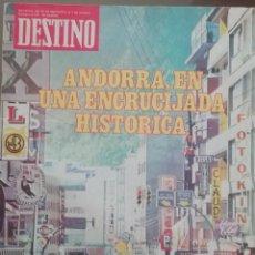 Coleccionismo de Revista Destino: DESTINO Nº 2138 1978 ANDORRA EN UNA ENCRUCIJADA HISTORICA - LA FELIZ MENORCA. Lote 190353235