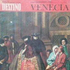 Coleccionismo de Revista Destino: DESTINO Nº 1550 1967 ESPECIAL VENECIA. Lote 190353745
