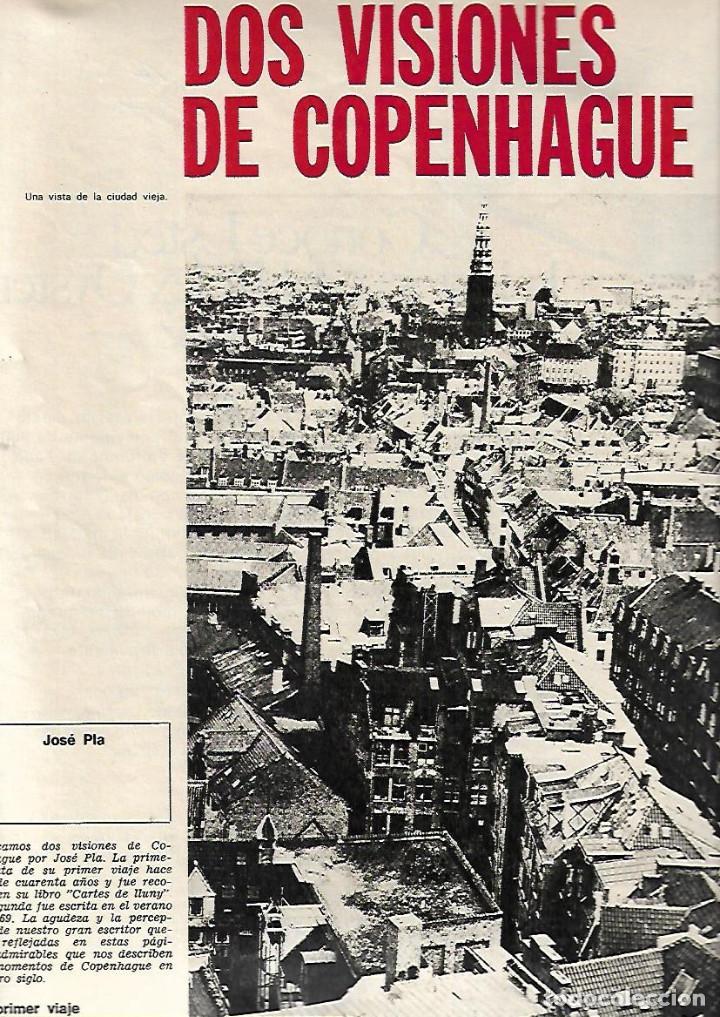 Coleccionismo de Revista Destino: AÑO 1970 ESPECIAL COPENHAGUE HISTORIA PORNOGRAFIA ELSINOR COCINA NORDISK ANDERSEN SOREN KIERKEGAARD - Foto 5 - 11775262