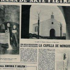 Coleccionismo de Revista Destino: AÑO 1956 ENRIQUE MONJO ESCULTURA SAN SEBASTIAN CINE BARCELONA CAPILLA DE MONGOFRE MENORCA. Lote 11826037