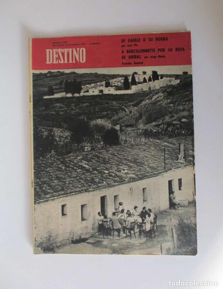 REVISTA DESTINO - AÑO 1962 - EL CEMENTERIO DE MONTGAT, DE GAULLE O SU FIGURA, LANZAROTE... (Coleccionismo - Revistas y Periódicos Modernos (a partir de 1.940) - Revista Destino)