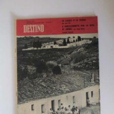 Collectionnisme de Magazine Destino: REVISTA DESTINO - AÑO 1962 - EL CEMENTERIO DE MONTGAT, DE GAULLE O SU FIGURA, LANZAROTE.... Lote 190721112